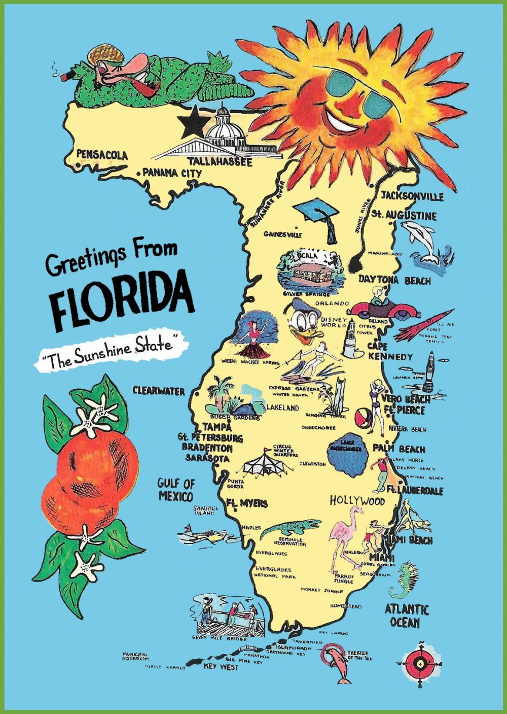 Floryda Mapa Atrakcji
