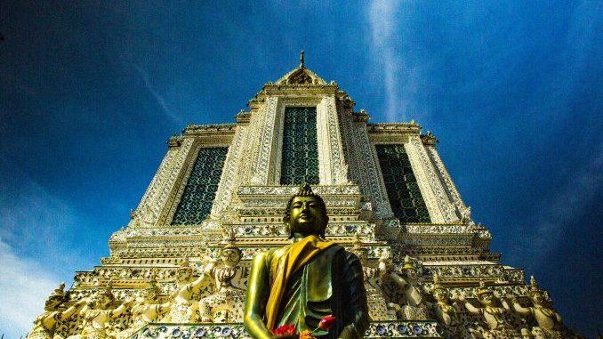 Swiatynia buddyjska w Bangkoku, Tajlandia